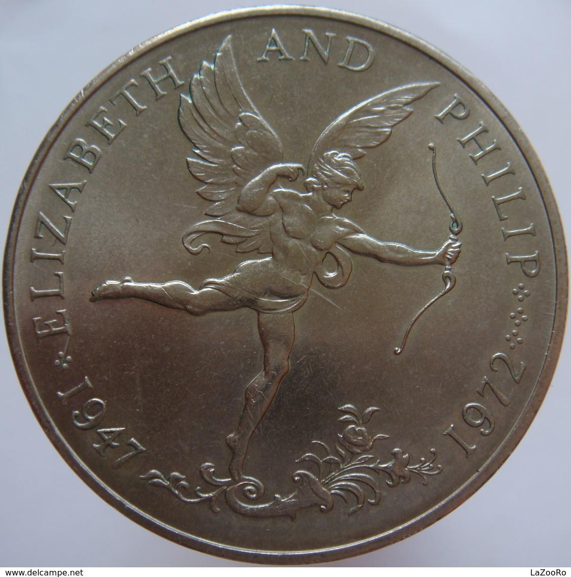 Guernsey 25 Pence 1972 UNC Scarce - Guernsey