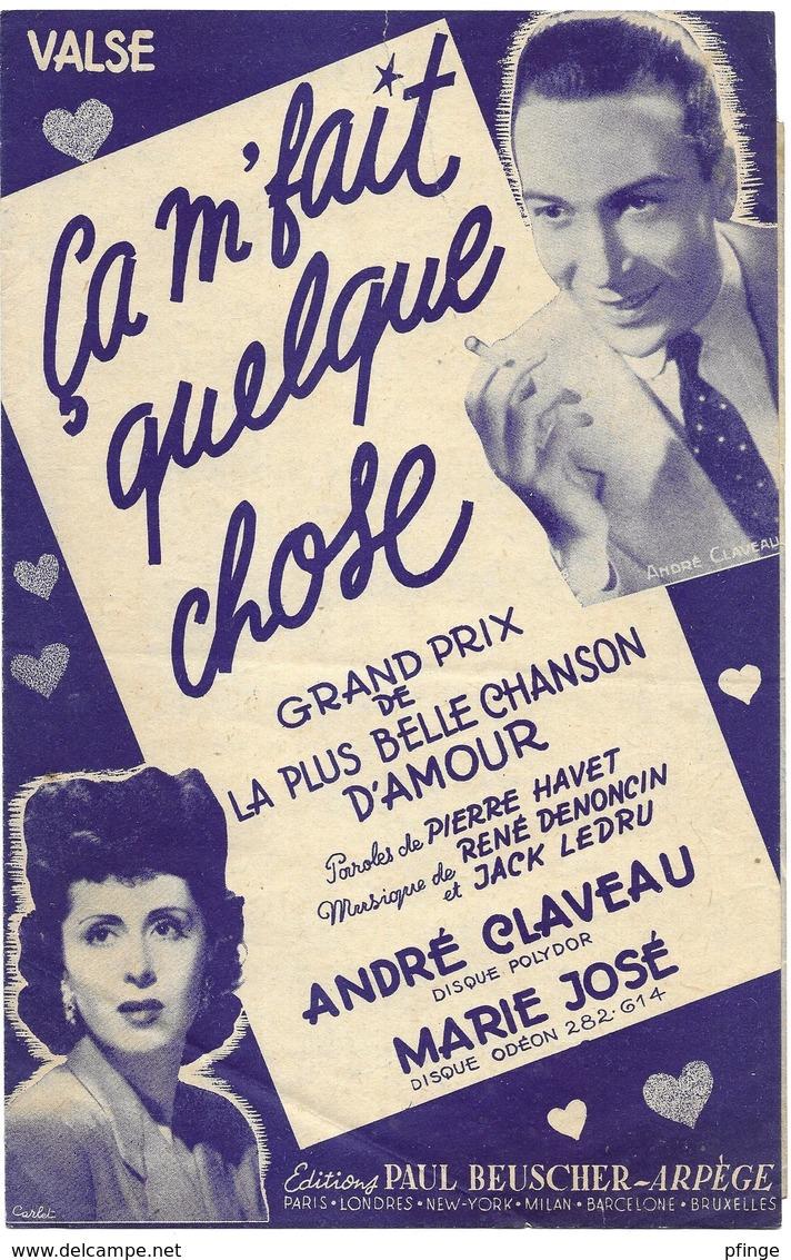 Ca M'fait Quelque Chose - André Claveau (p: Pierre Havet - M: René Denoncin & Jack Ledru), 1952 - Musique & Instruments