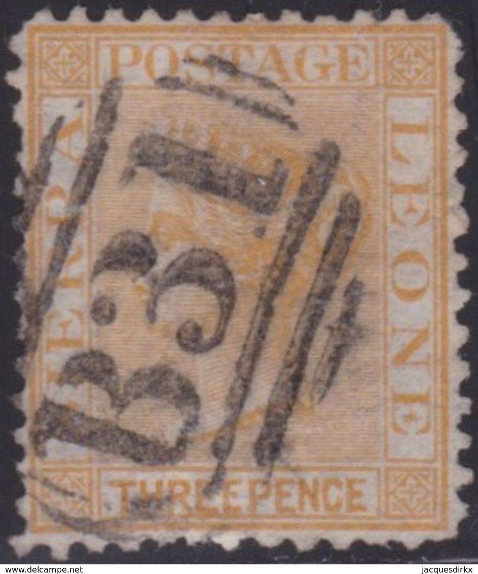 Sierra Leone   .   SG  .   8   .      O   .   Cancelled      .   /   .    Gebruikt - Sierra Leone (...-1960)