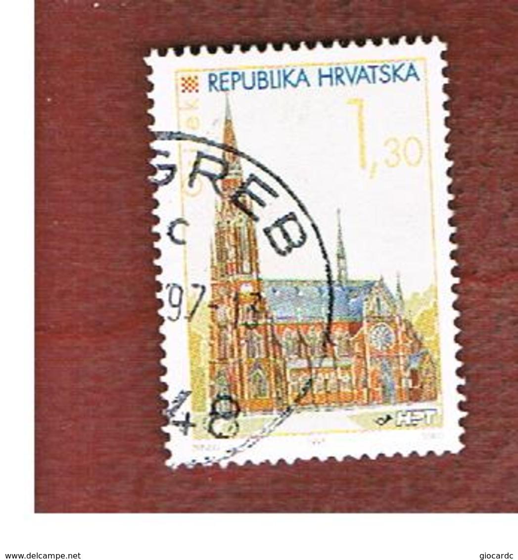 CROAZIA (CROATIA)  - SG 383  -  1995  CROATIAN TOWNS: CATHEDRAL, OSIJEK    -   USED - Croazia