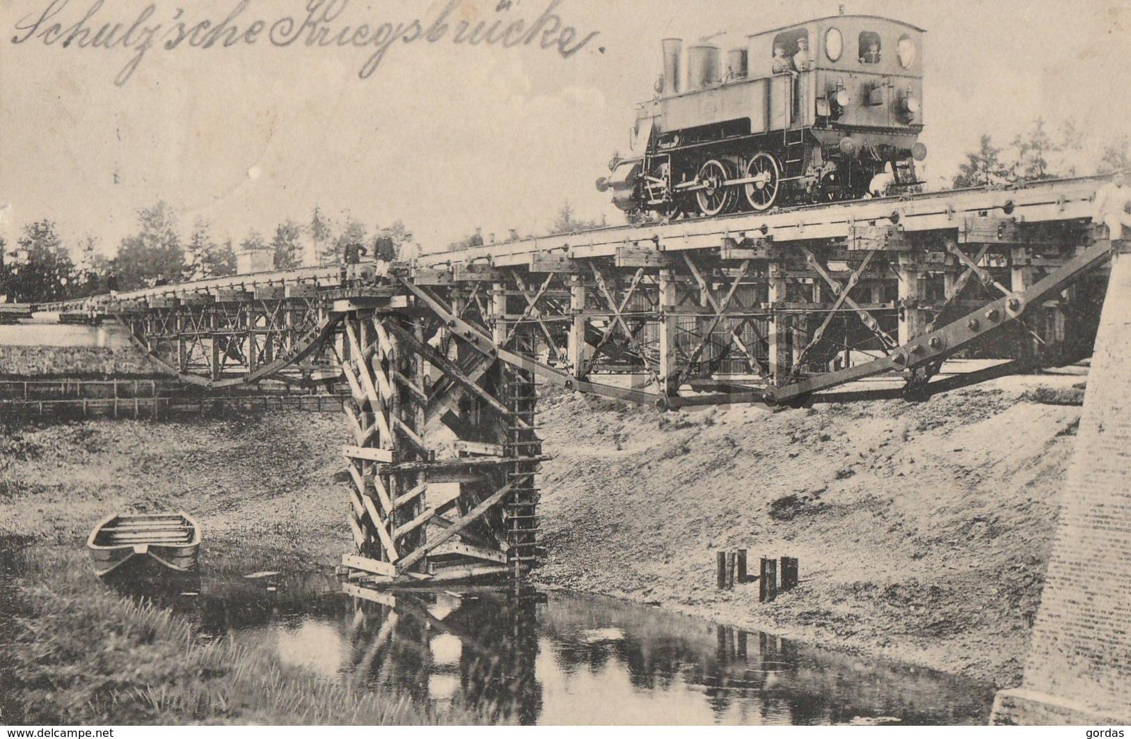 Germany - Munchen - Eisenbahnbataillon - Steam Train Engine - Kriegsbrucke - War Bridge - Trenes
