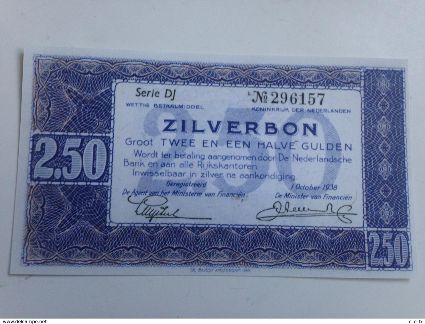 Billete Holanda. 2,5 Gulden. 1938. Amsterdam. Pre II Guerra Mundial. Réplica. Sin Circular - [2] 1815-… : Royaume Des Pays-Bas