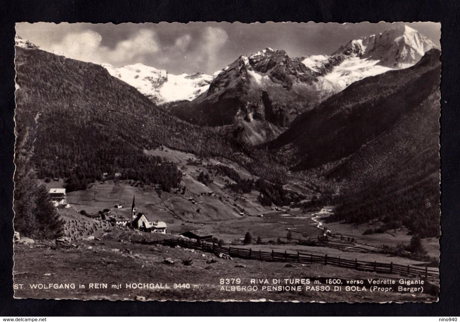 RIVA DI TURES (BZ) - Verso Vedrette Gigante - St. Wolfang Mit Cochgall - F/P - V: 1950 - Genova (Genoa)