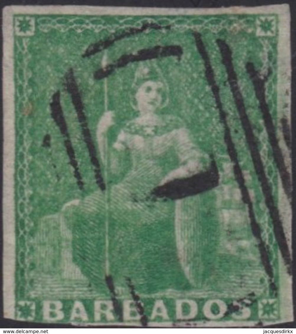 Barbados    .   SG  .    7  (2 Scans)   .      O   .   Cancelled      .   /   .    Gebruikt - Barbados (...-1966)