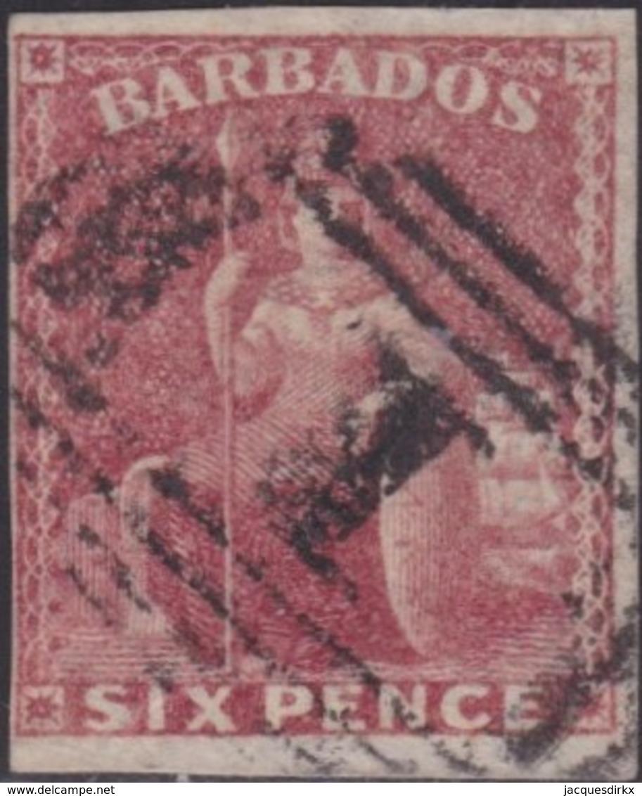 Barbados    .   SG  .    11a  (2 Scans)   .      O   .   Cancelled      .   /   .    Gebruikt - Barbados (...-1966)
