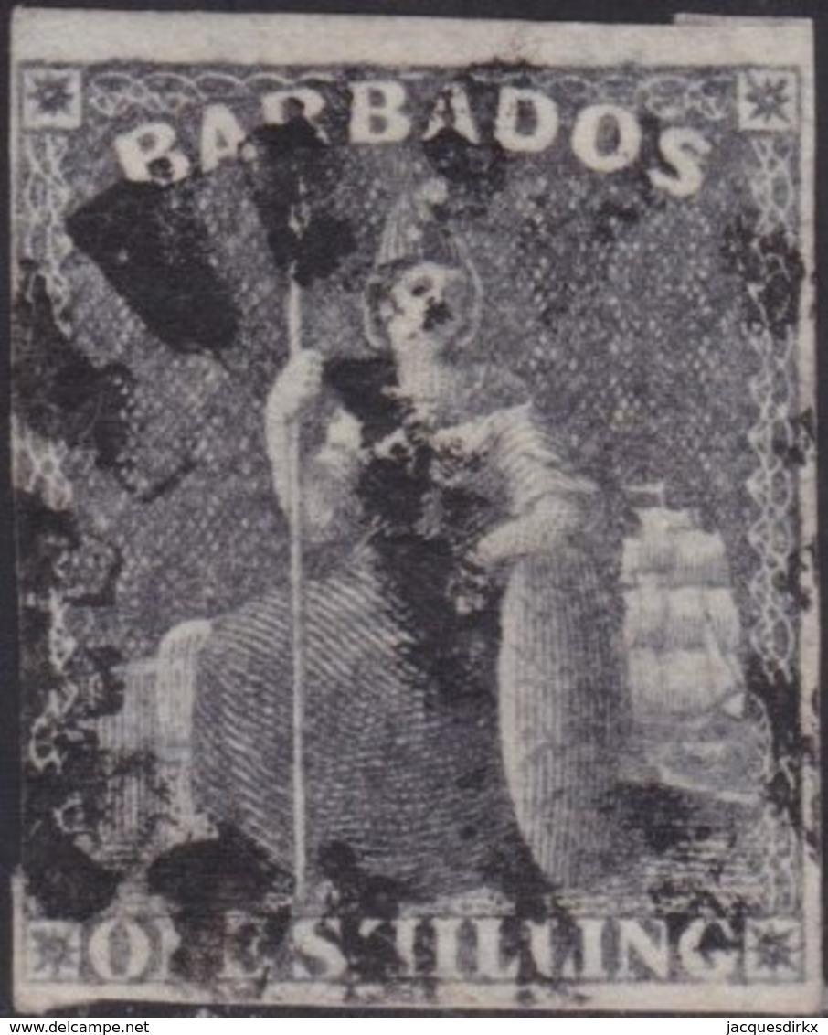 Barbados    .   SG  .    12a   .      O   .   Cancelled      .   /   .    Gebruikt - Barbados (...-1966)