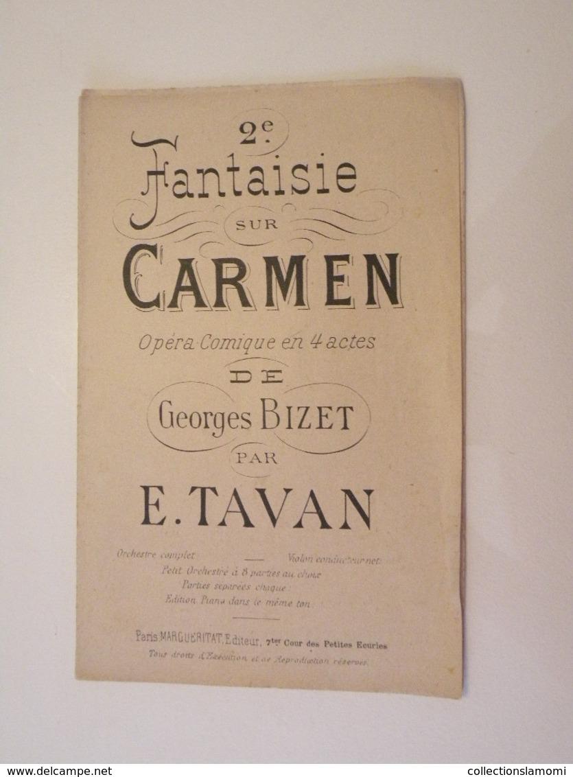 2ème Fantaisie Sur Carmen (Georges Bizet)-(Opéra Comique En 4 Actes) (Partition) - Opern