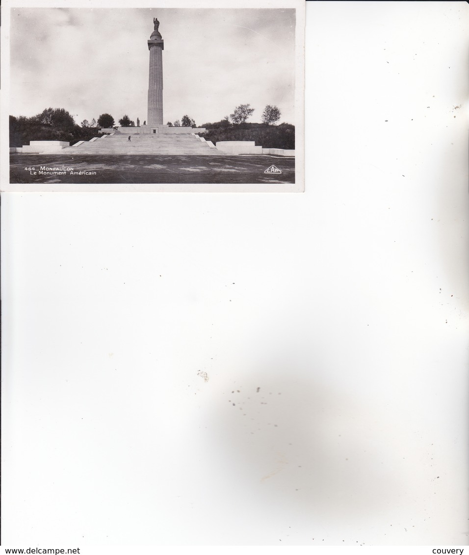 CPA 55 MONTFAUCON ,Le Monument Américain. - Francia