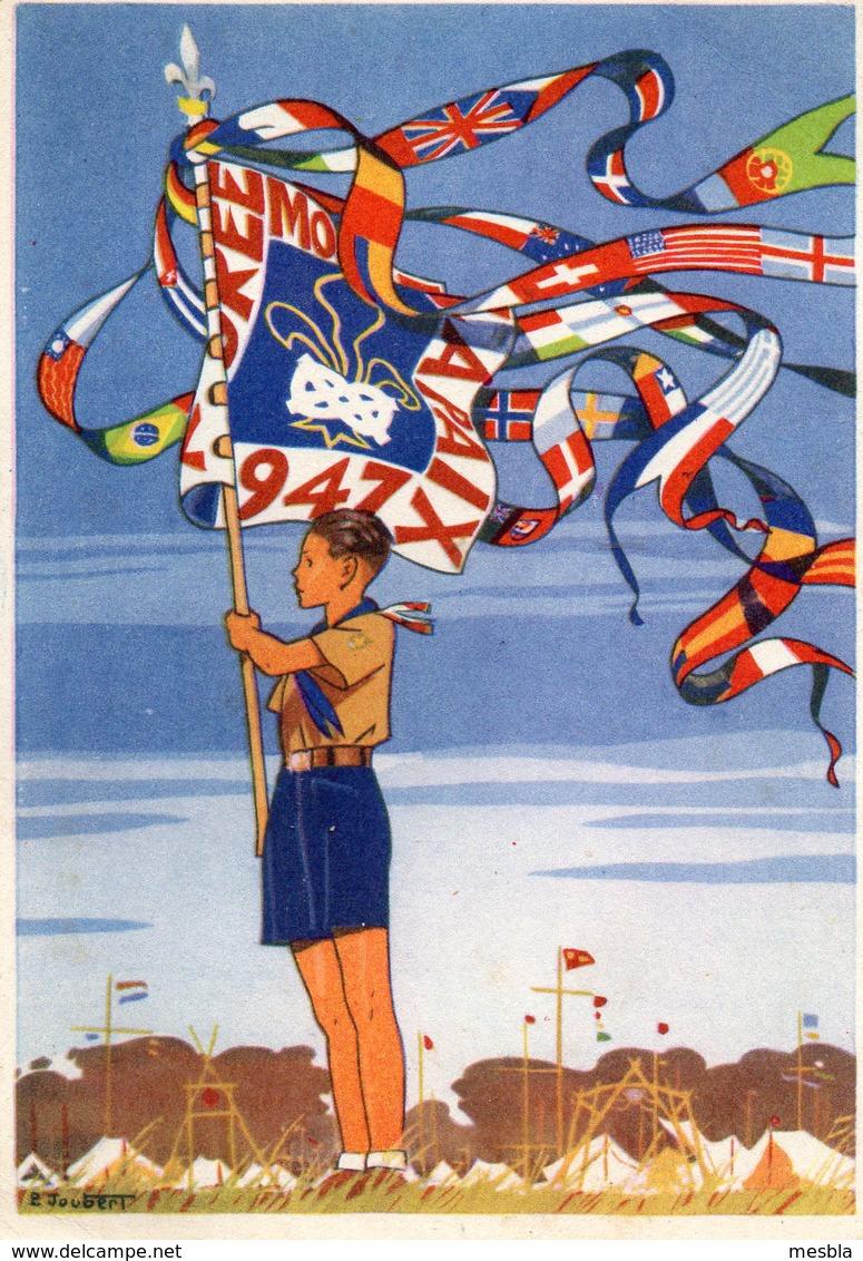 CPA -  SCOUTISME 1947 - Destinataire Mr Paul RATEAU Radio Electricien (Expéditions Polaires En Terre Adélie) P.E.V - Scoutisme