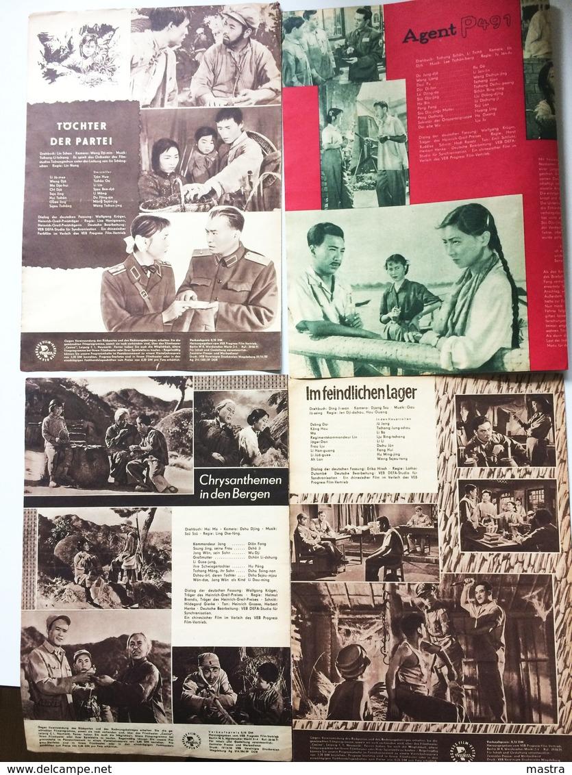 4 CHINESE MOVIES 1960 East German Film Programs - Film & TV