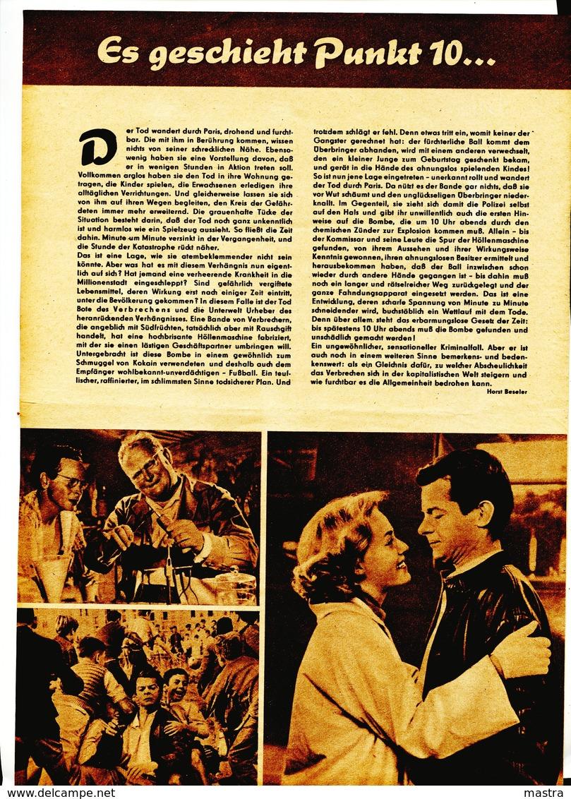 "JEANNE MOREAU In ""ECHEC AU PORTEUR"" France 1957 Original Movie Program 105/58 - Film & TV"