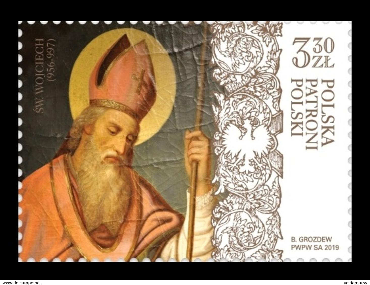 Poland 2019 Mih. 5105 Adalbert Of Prague (Saint Vojtech) MNH ** - Unused Stamps