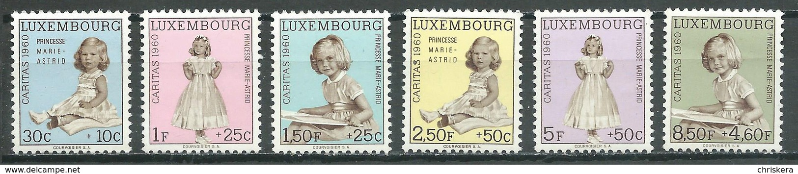 Luxembourg YT N°589/594 Caritas 1960 Neuf/charnière * - Ungebraucht