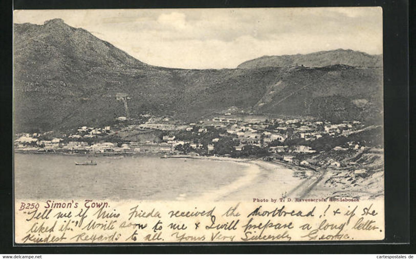 CPA Simon`s Town, Vue Partielle Avec Le Port - Südafrika
