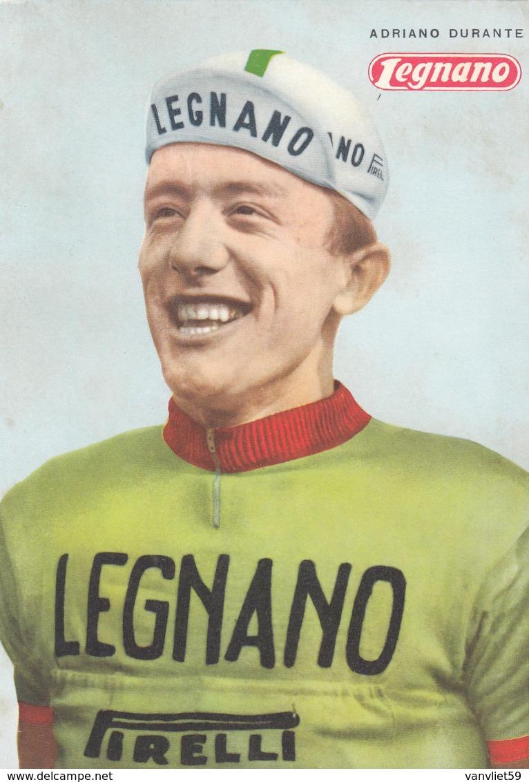 LEGNANO-ADRIANO DURANTE-CARTOLINA NON VIAGGIATA ANNO 1963 - Ciclismo
