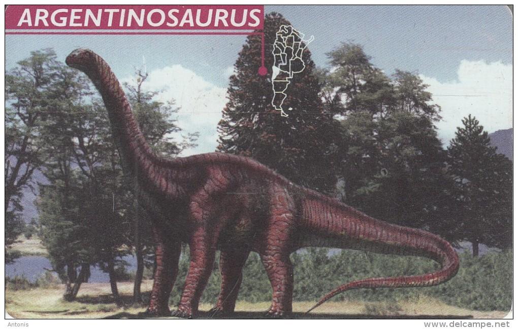 ARGENTINA(chip) - Argentinosaurus, Telefonica Telecard(F 56), 05/97, Used - Argentina