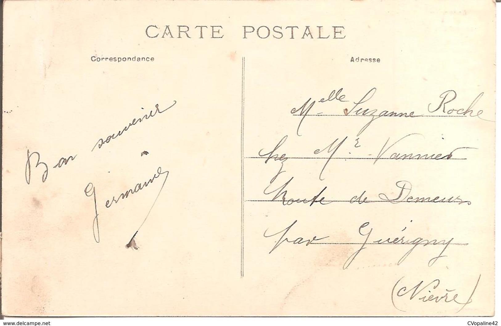 """REVIN (08) Vallée De La Meuse - """"Devant Revin"""" Et Le Pont Suspendu De La Route De Fumay En 1909 - Revin"""