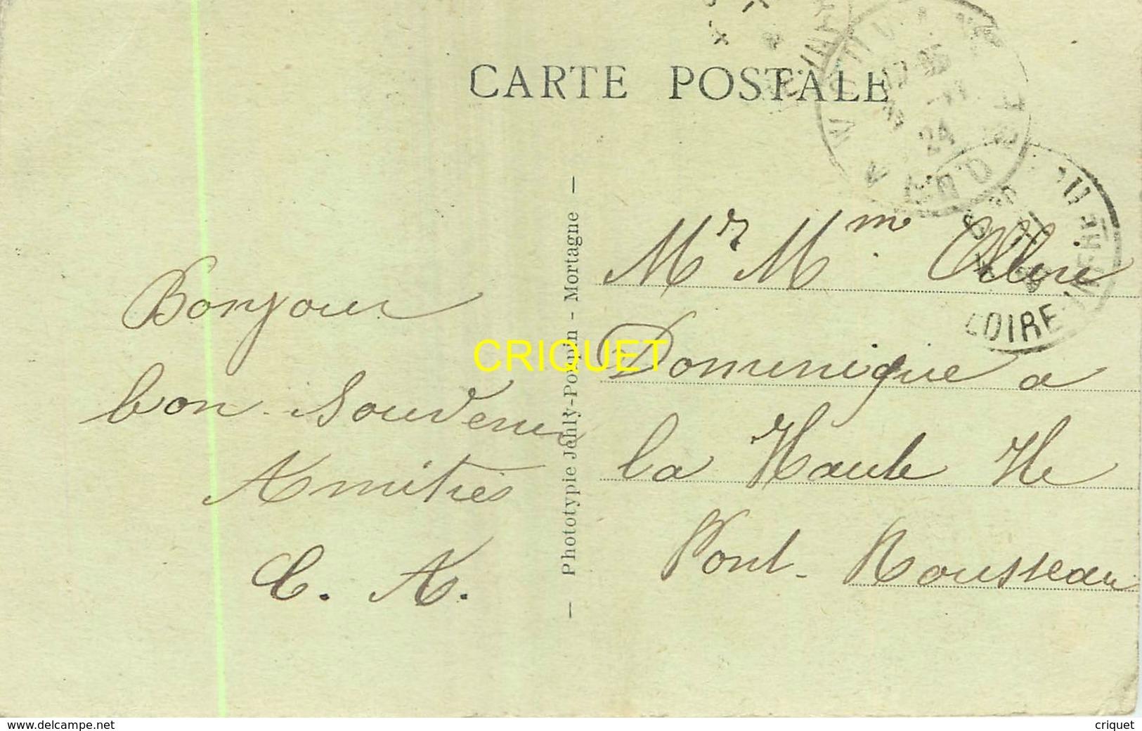 85 Vouvant, Le Monument Aux Morts, Belle Carte Pas Courante Affranchie 1924 - Other Municipalities