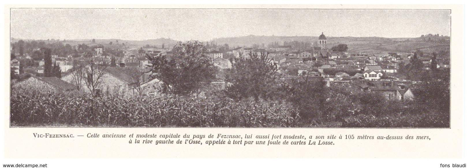 1924 - Iconographie - Vic-Fezensac (Gers) - Vue Générale - FRANCO DE PORT - Vieux Papiers