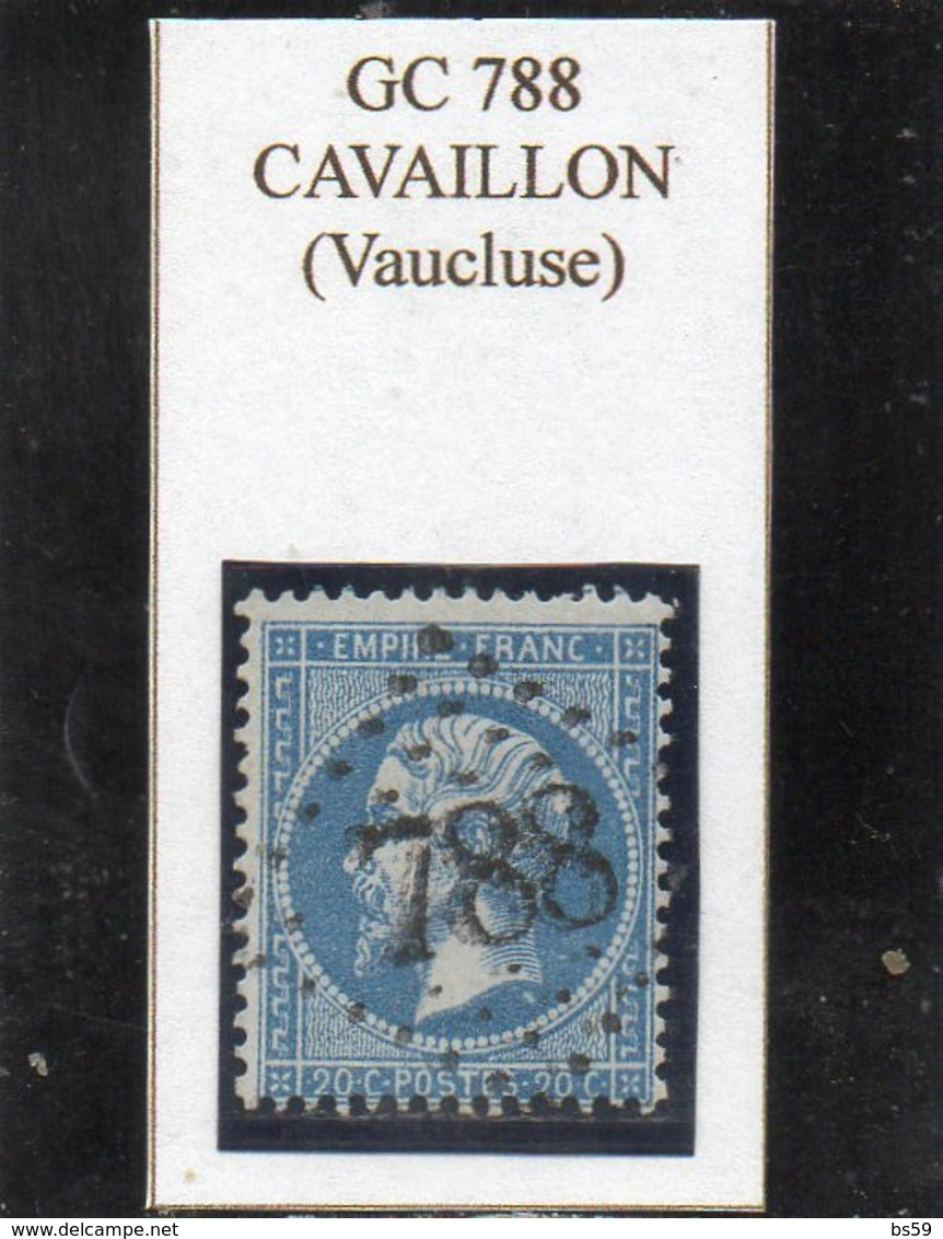 Vaucluse - N° 22 Obl GC 788 Cavaillon - 1862 Napoleon III