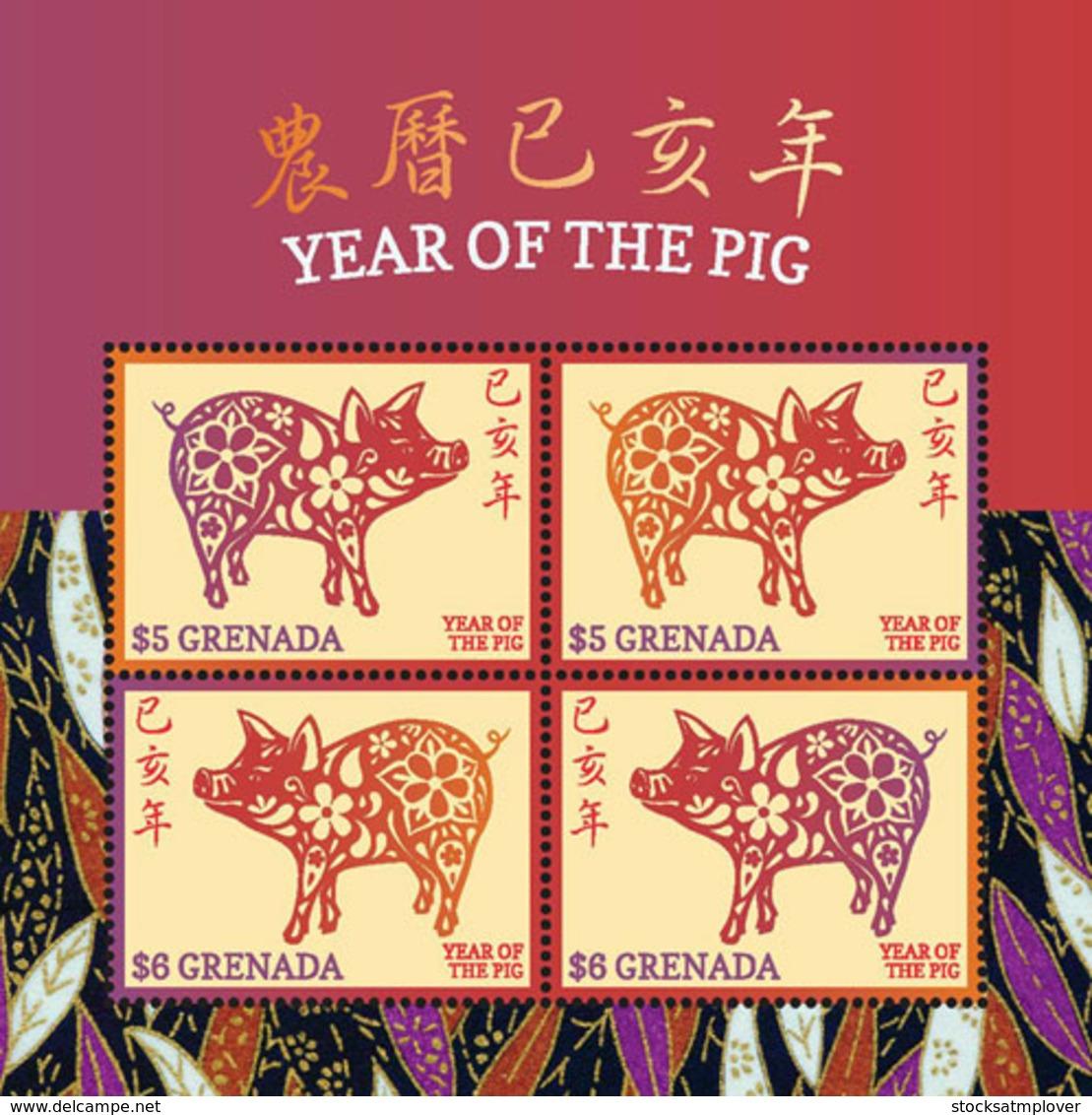 Grenada   2019  Year Of The Pig   I201901 - Grenada (1974-...)