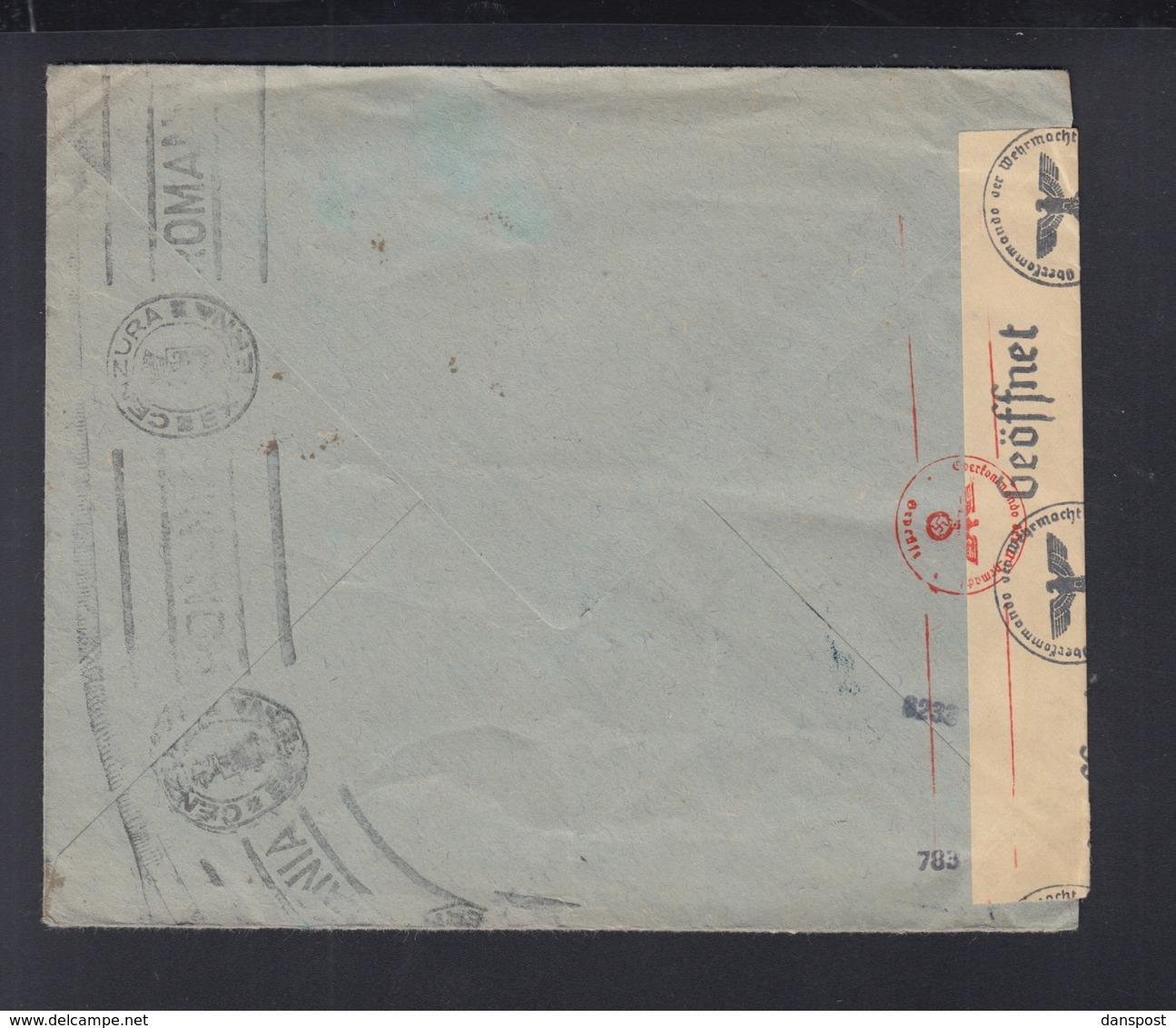 Romania Cover Bucuresti To Germany Censor - 1918-1948 Ferdinand, Charles II & Michael