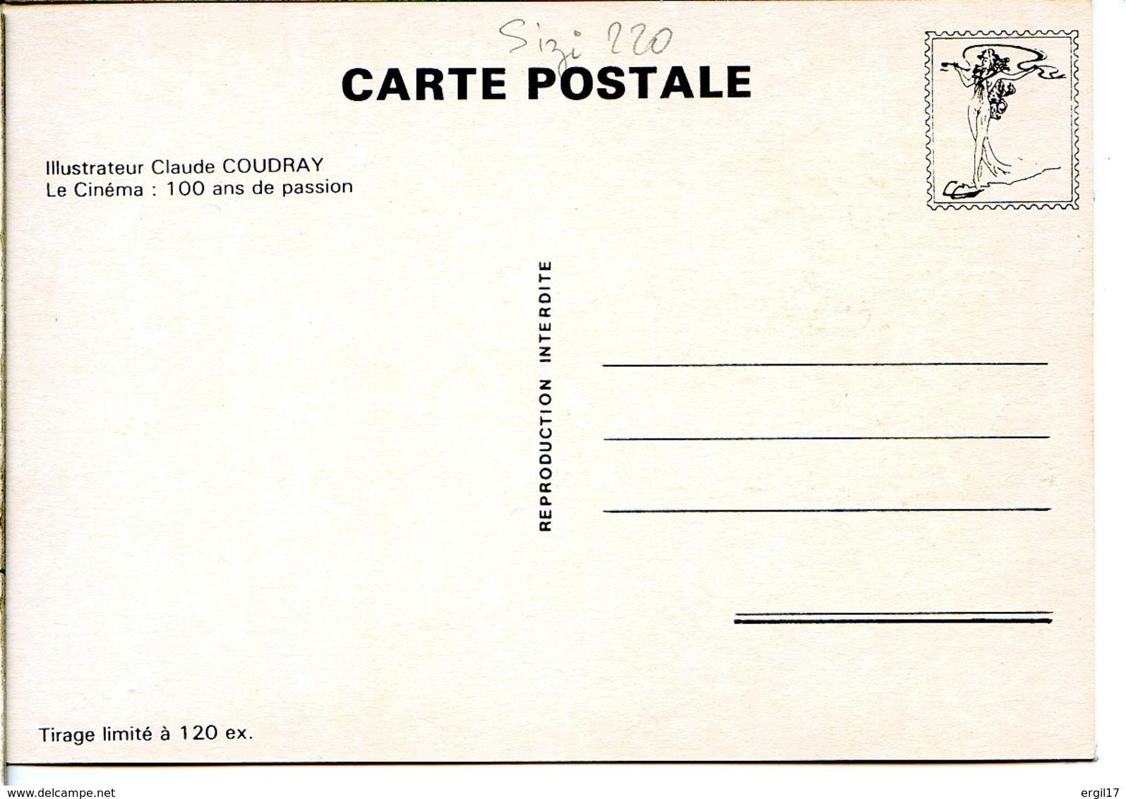 Escargot - Illustration Claude Coudray - Le Cinéma : 100 Ans De Passion - Tirée à 120 Ex - Autres Illustrateurs