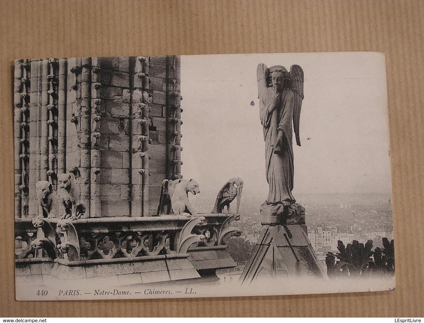PARIS Cathédrale Notre-Dame De Paris Chimères  Carte Postale France - Notre Dame De Paris