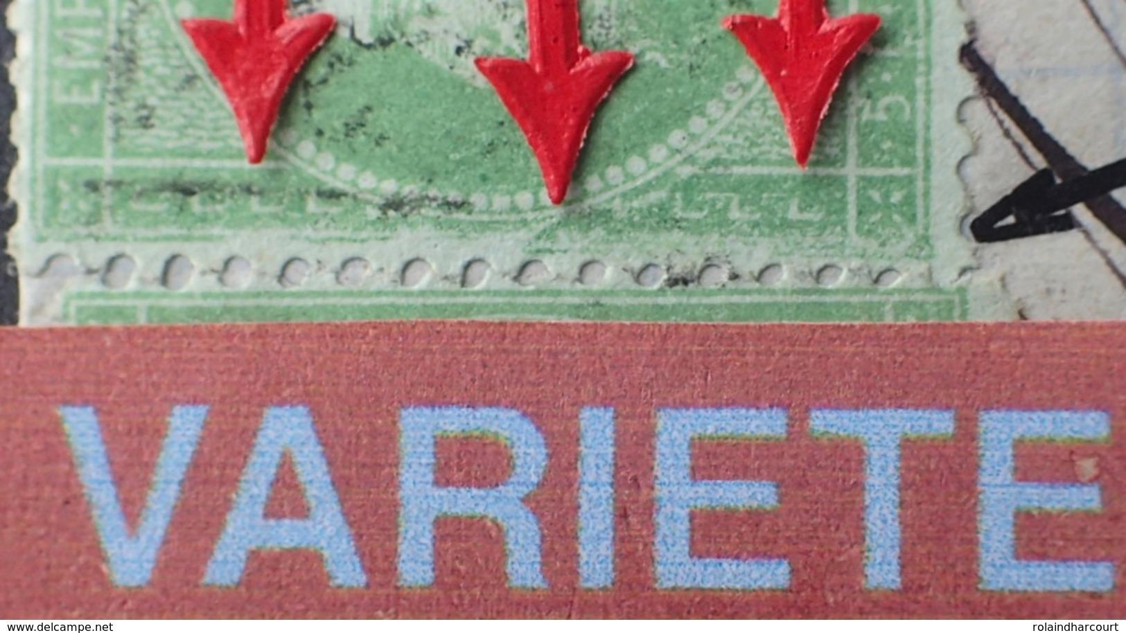R1917/163 - NAPOLEON III N°35 + CERES N°60A Sur ✉️ ROUBAIX à PARIS - SUPERBE VARIETE ➤➤➤ GRANDE CASSURE DU CADRE GAUCHE - 1862 Napoleon III