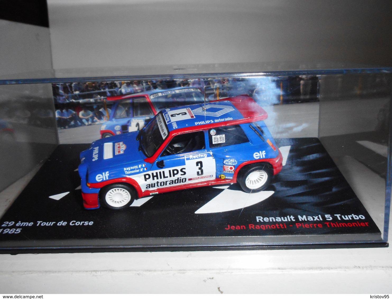 RENAULT 5 MAXI TURBO #3 TOUR DE CORSE 1985 RAGNOTTI THIMONIER IXO ALTAYA 1/43 - Rallye