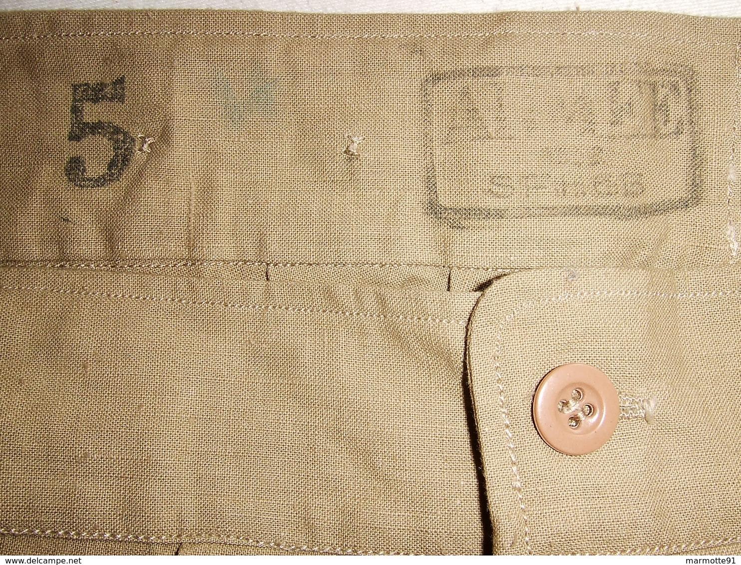 CALECON KAKI 1953 ?? ARMEE FRANCAISE GUERRE INDOCHINE ALGERIE COLONIE AFRIQUE TAILLE 5 - Uniforms