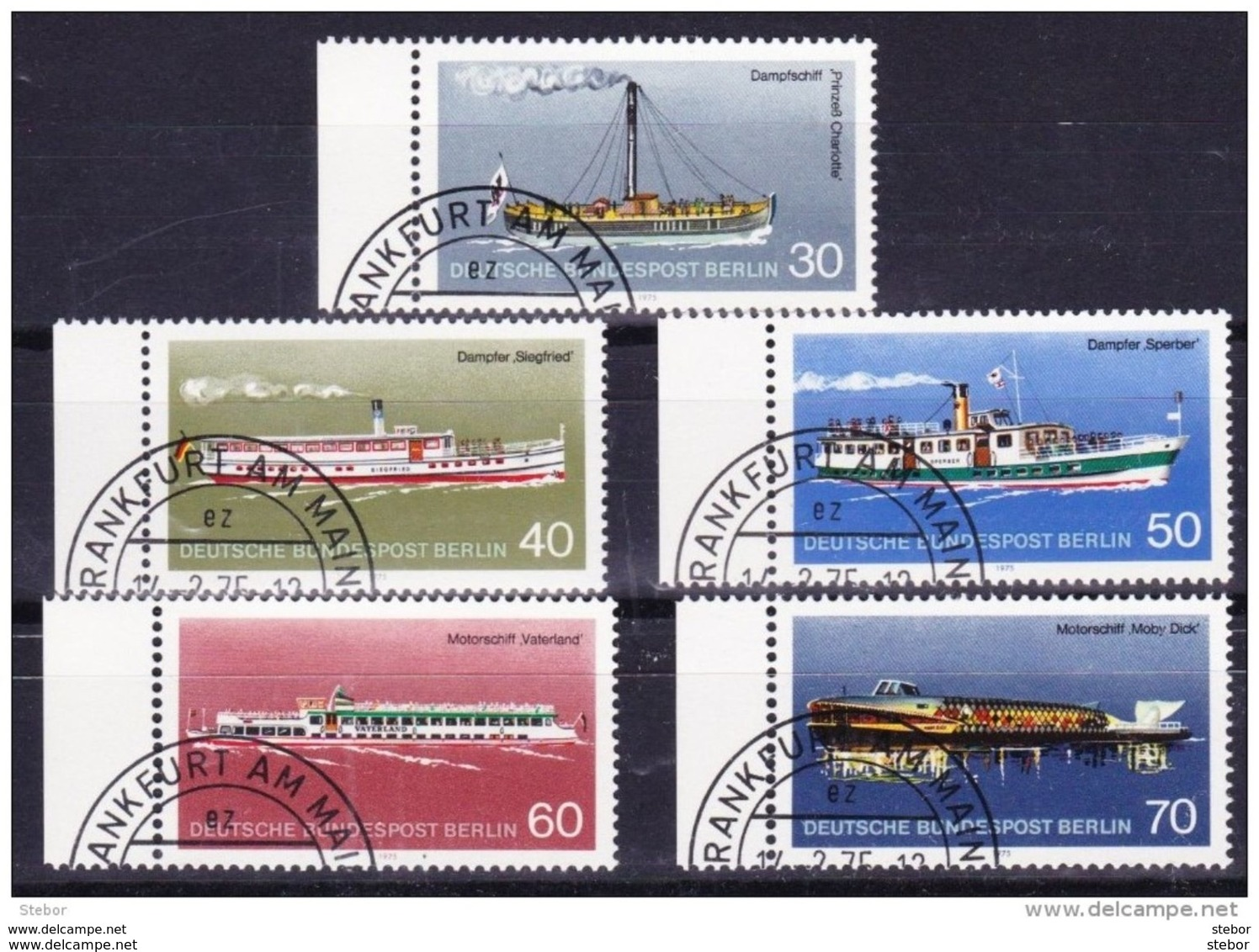 Duitsland Berlijn 1975 Nr 447/51 G, Zeer Mooi Lot Krt 3615 - Timbres