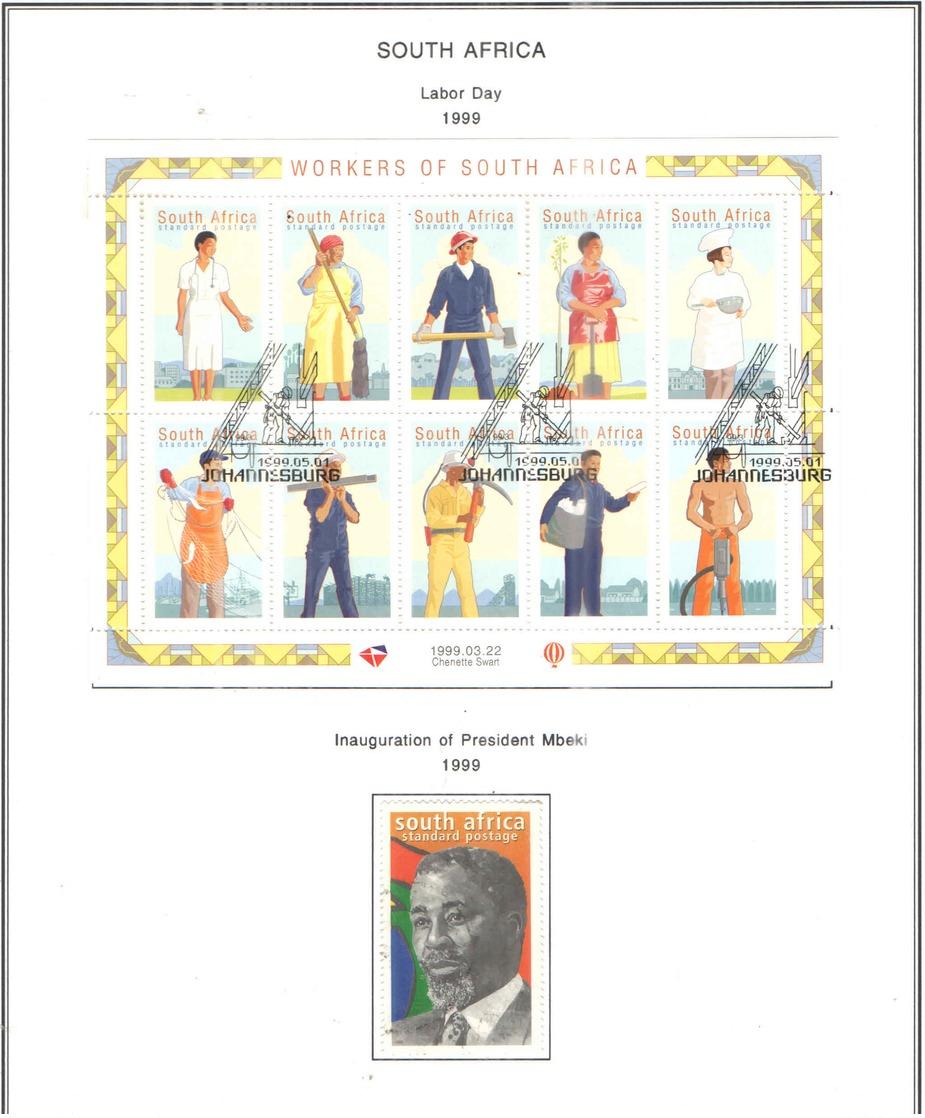 Sud Africa PO 1999 Nomina Pres.Mbeki . Scott.1121.+See Scan On Scott.Page; - Usati