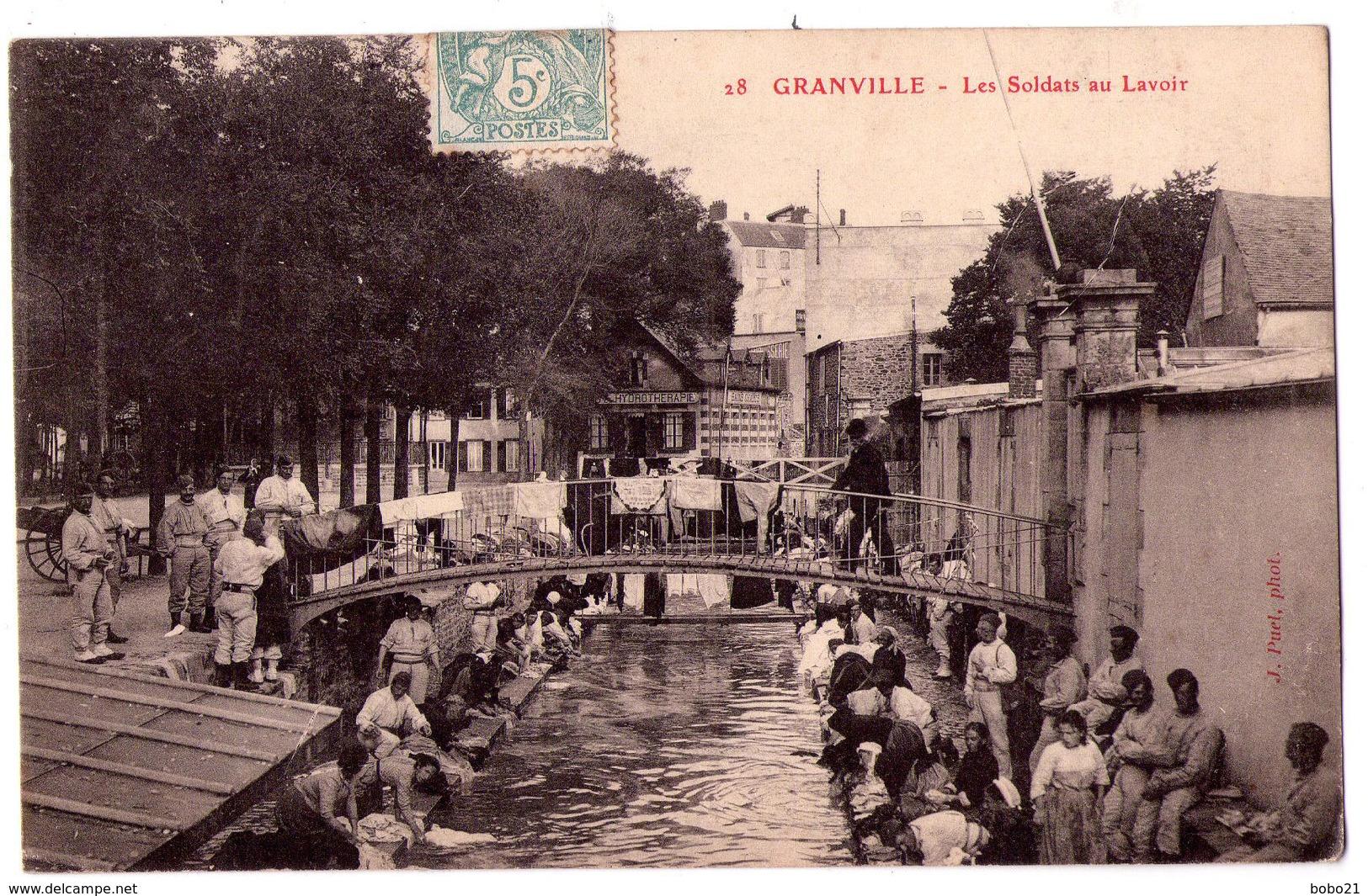 4338 - Granville ( 50 ) - Les Soldats Au Lavoir - N°28 - - Granville