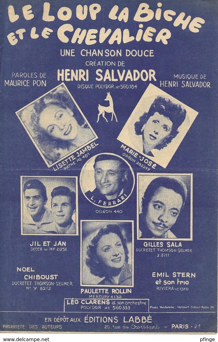 Une Chanson Douce (le Loup La Biche Et Le Chevalier) - Henri Salvador (p: Maurice Pon - M:  Henri Salvador), 1950 - Musique & Instruments