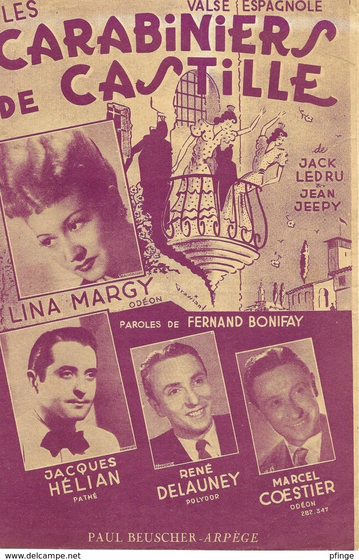 Les Carabiniers De Castille - Lina Margy (p: Fernand Bonifay - M: Jacques Ledru & Jean Jeepy), 1951 - Musique & Instruments