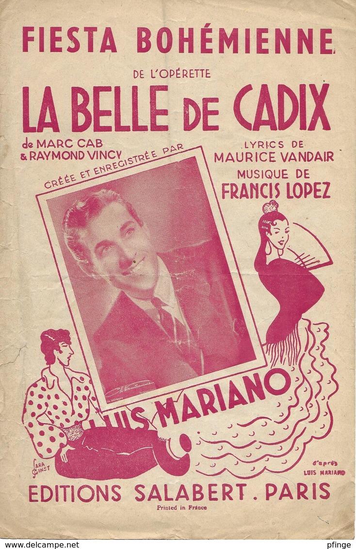 Fiesta Bohémienne - Luis Mariano (p: Maurice Vandair - M: Francis Lopez), 1946 (illustration:Sara Ginst) - Musique & Instruments