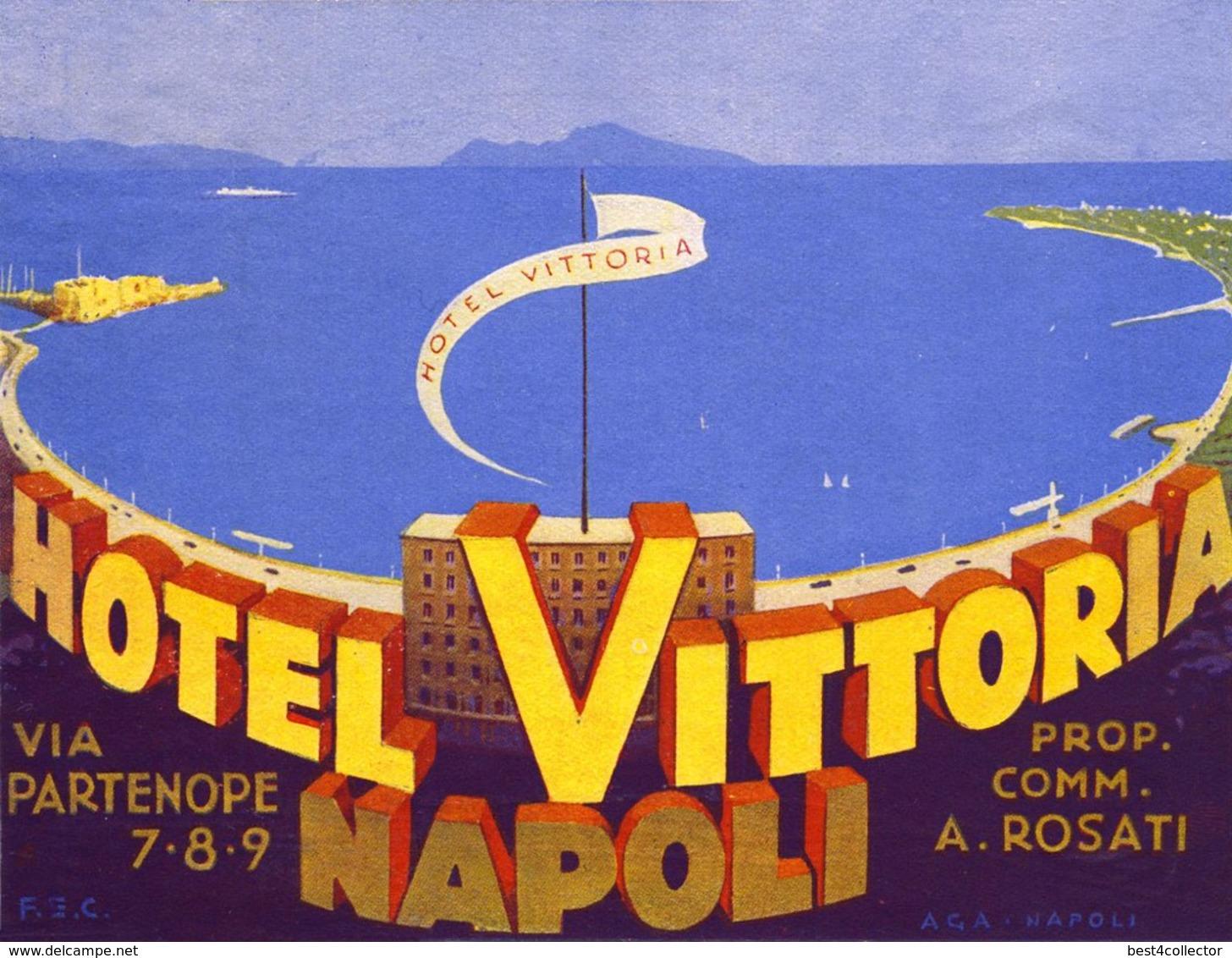 @@@ MAGNET - Hotel Vittoria Naples Italy - Publicitaires