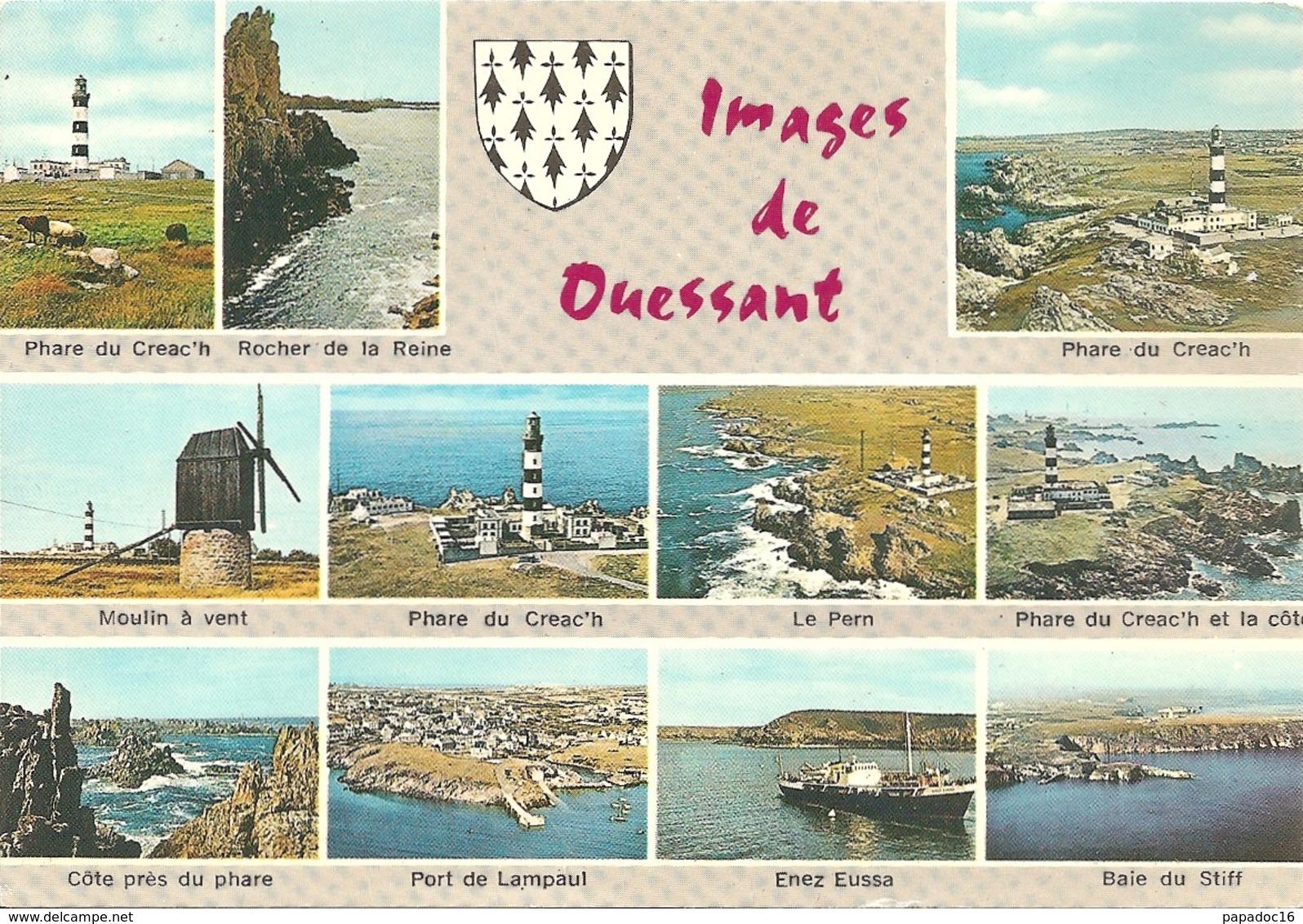29 - Images De Ouessant - Multivues (11) : Phare Du Creac'h, Le Pern, Port De Lampaul, Enez Eussa, Baie Du Stiff... - Ouessant
