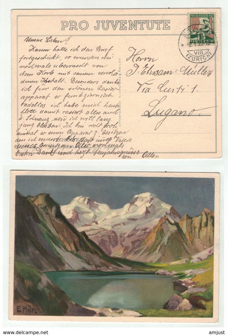 Suisse //Schweiz//Svizzera// Switzerland // Pro-Juventute // Carte Pro-Juventute 1927 No.136 Oblitérée En 1927 - Lettres & Documents