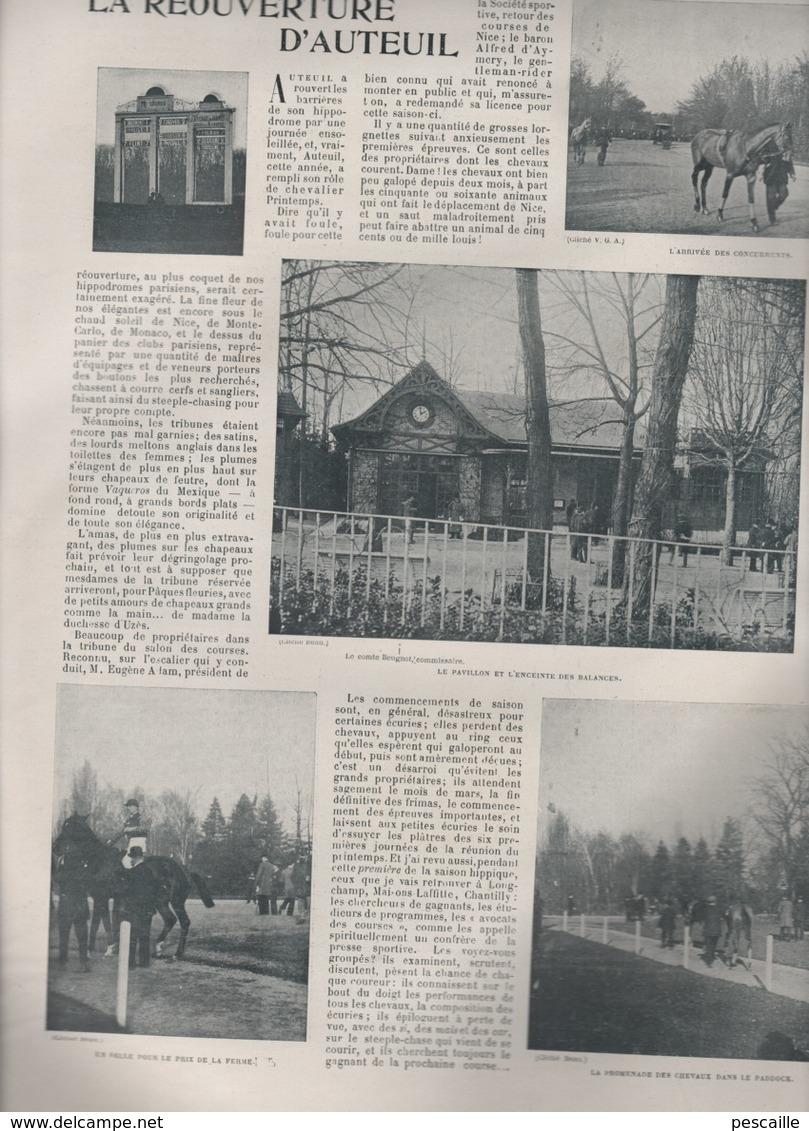 LA VIE AU GRAND AIR 25 02 1899 - AUTEUIL - ECOLE DE JOINVILLE - CHASSEURS ALPINS - JEU DE BOULES - BORDEAUX - Libri, Riviste, Fumetti