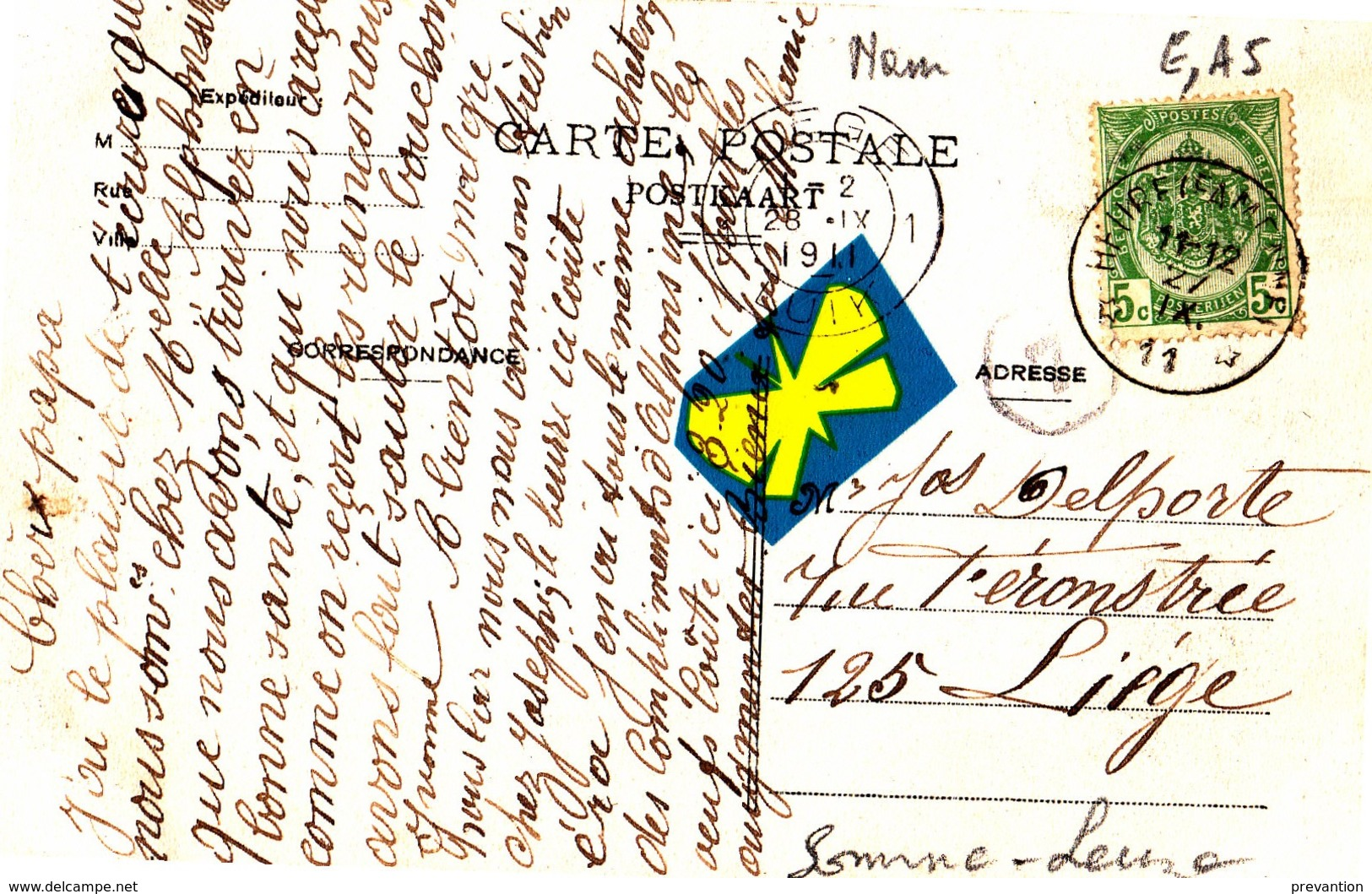 BAILLONVILLE - Maison De M. Martin Et Vue Panoramique - Superbe Carte Circulée En 1911 - Belgium
