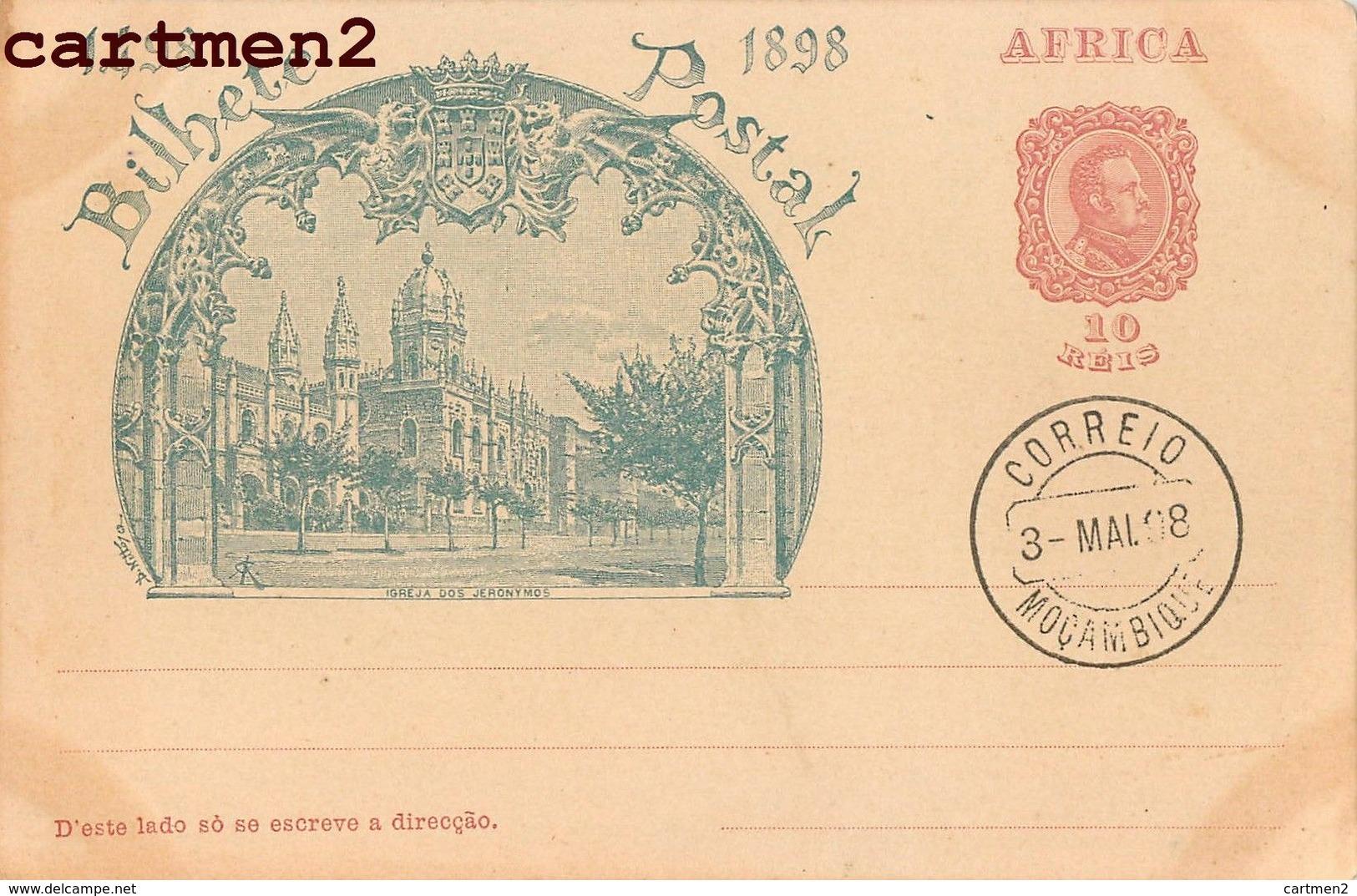CORREIO 1898 IGREJA DOS JERONYMOS MOZAMBIQUE MOCAMBIQUE PORTUGAL BILHETE POSTAL AFRICA - Mozambique
