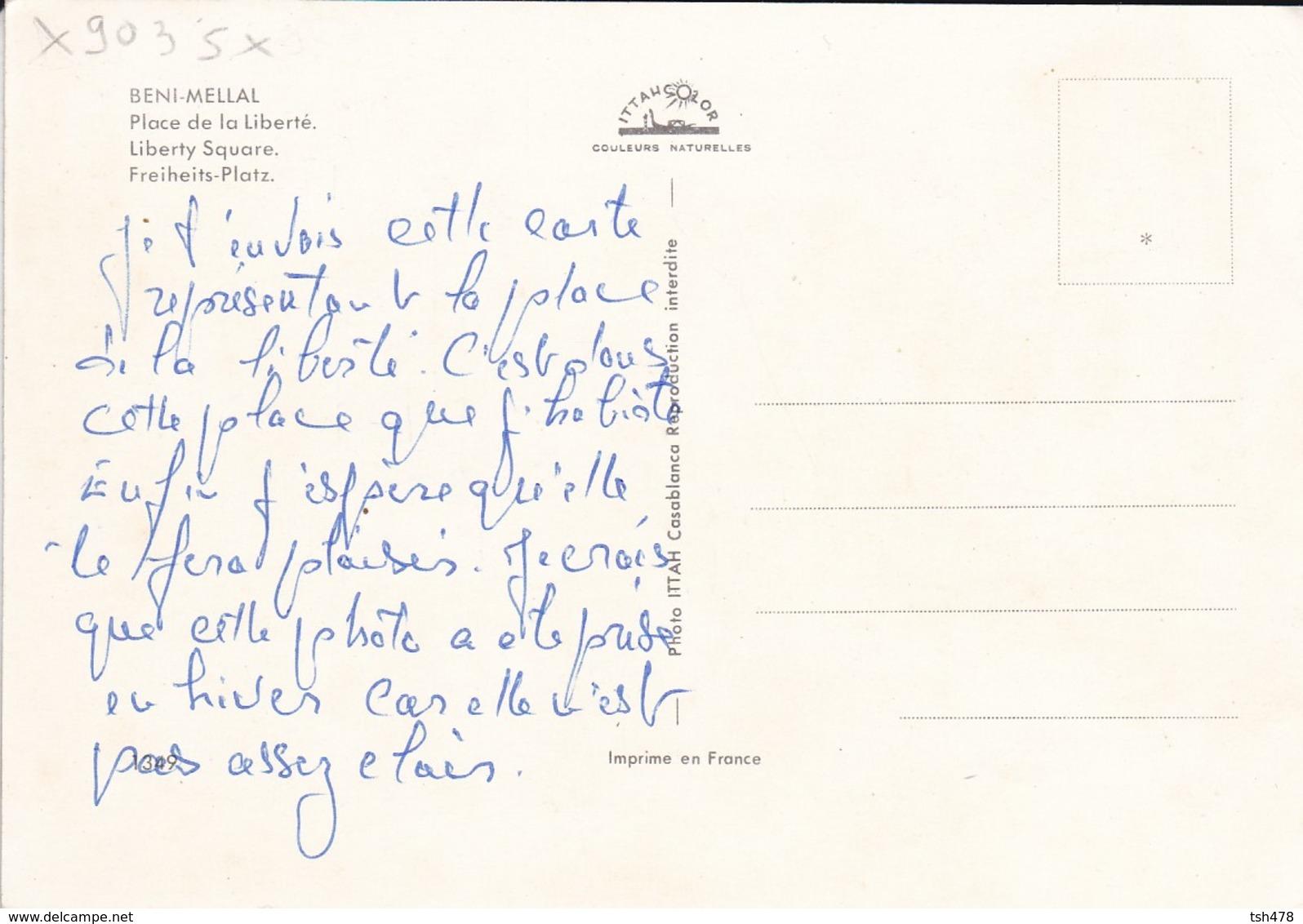 MAROC---RARE--BENI-MELLAL--place De La Liberté---voir 2 Scans - Autres