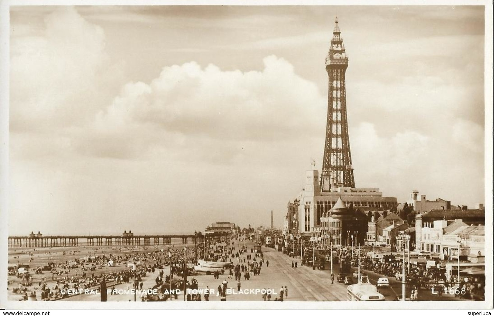 6-CENTRAL PROMENADE AND TOWER-BLACKPOOL - Blackpool