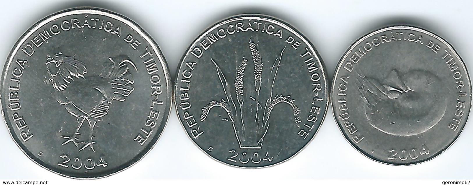 Timor Leste - 2004 - 1, 5 & 10 Centavos - KMs 1-3 - Timor
