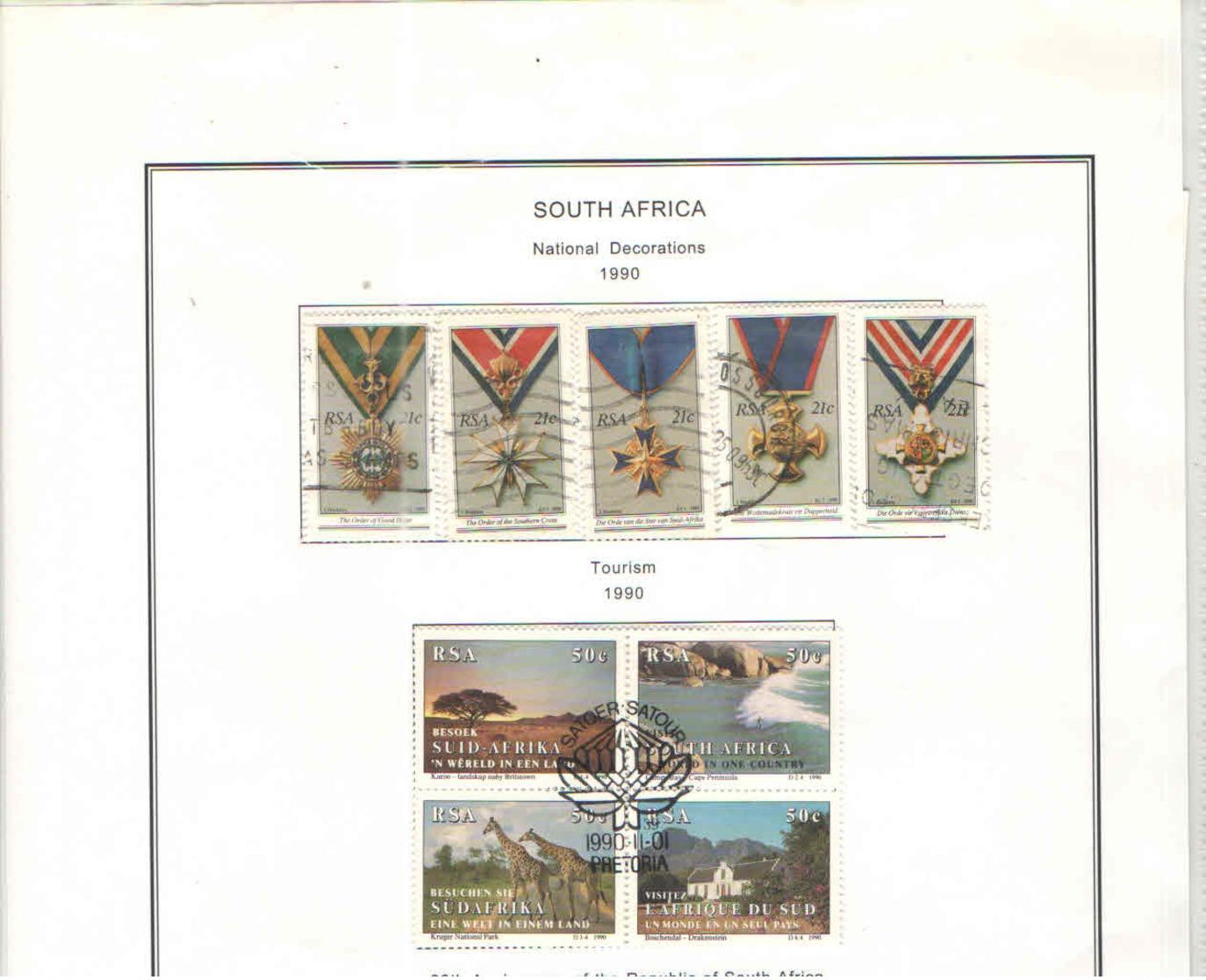 Sud Africa  PO 1990 Dwecorazioni Nat.  Scott.797/801 See Scan On Scott.Page; - Usati