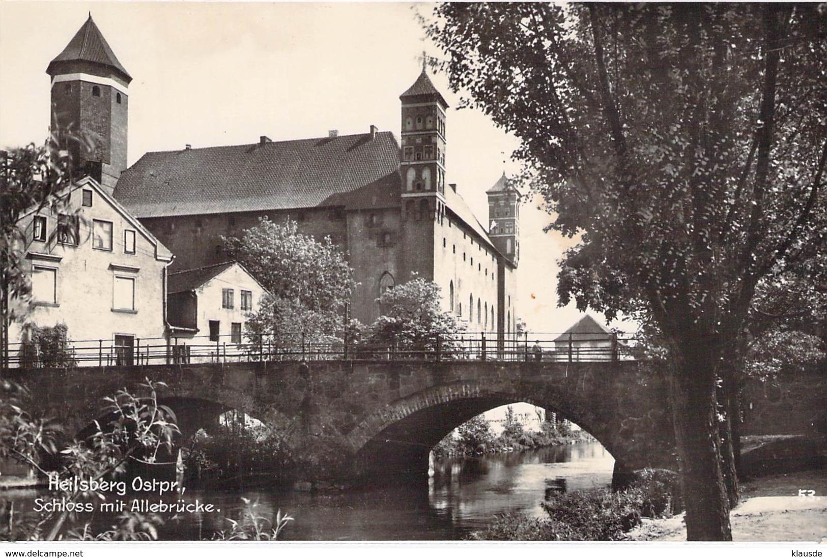 Heilsberg Ostpr.- Schloss Mit Alleebrücke - Pommern