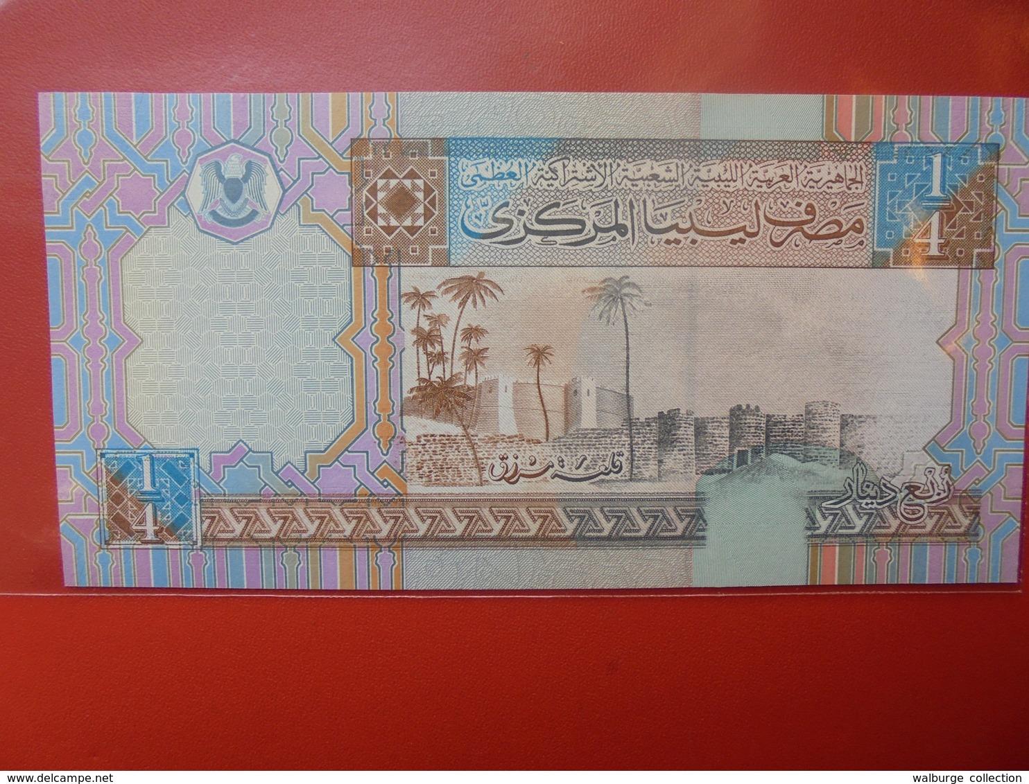 LIBYE 1/4 DINAR 2002 PEU CIRCULER/NEUF - Libya