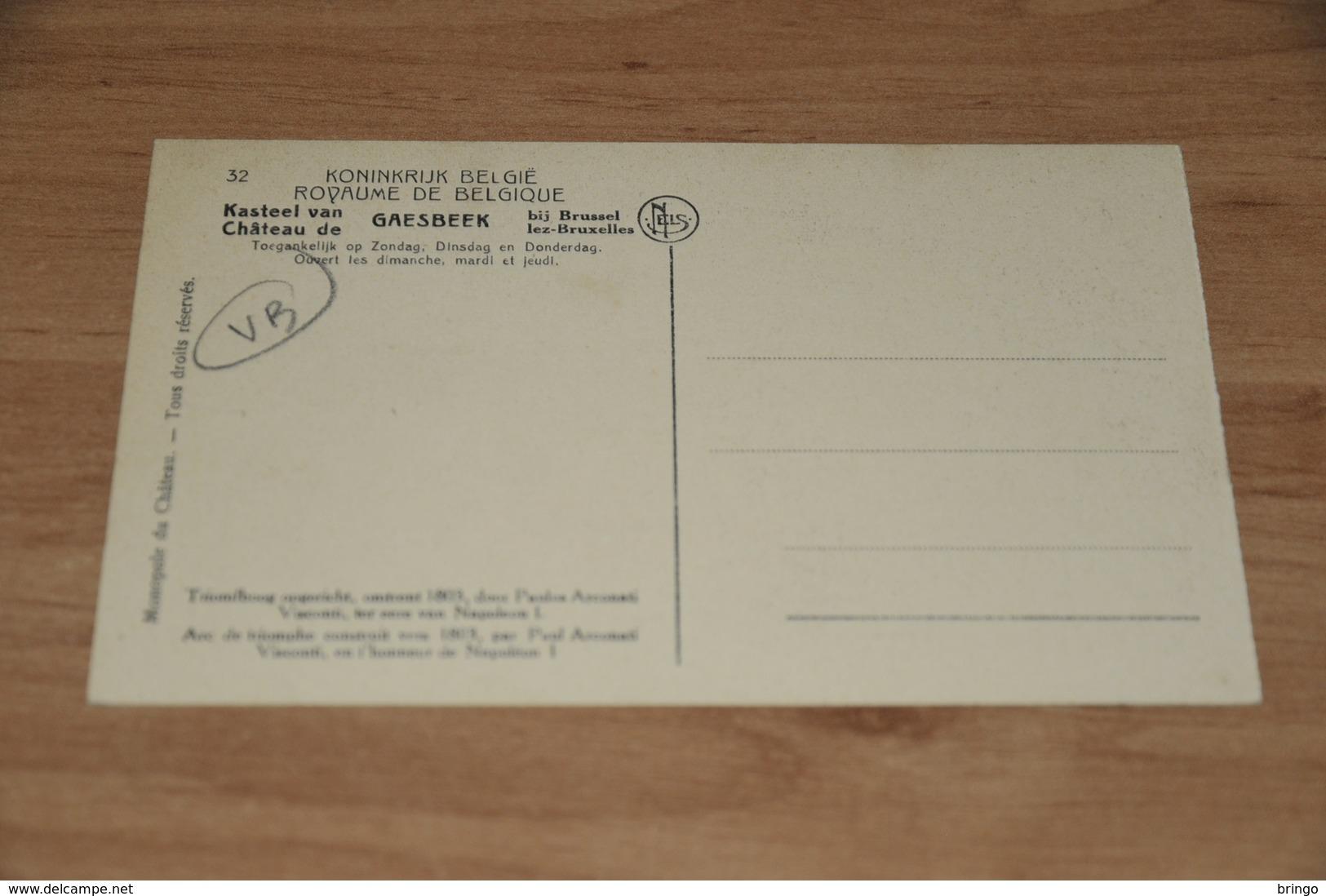 9493-     CHATEAU DE GAESBEEK, ARC DE TRIOMPHE - Lennik